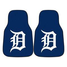 Detroit Tigers MLB Car Floor Mats (2 Front)