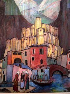 Red City | Marianne von Werefkin 1860-1938 | Russian-born Swiss Expressionist painter