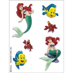 Little Mermaid Tattoo (24 tattoos for 2.57)