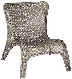 Shop Garden Treasures Tucker Bend Gray Woven Seat Steel Patio