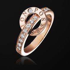 ピンクゴールド製ダイヤモンド付きリング- ピアジェ G34PV600