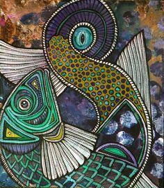 tribal fish art