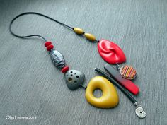 CERNIT: №463 (red Christmas), №700 (yellow), №055 (antique gold), №100 (black glamor), №100 (black), №080 (Silver) Red bead - inspired by Dan Cormier | by Ольга Леднева