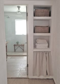 Peninsula Bathroom storage