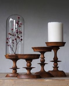 Clear-sighted aided woodturning tips Begin Now Wood Turning Lathe, Wood Turning Projects, Wood Lathe, Lathe Projects, Wooden Projects, Woodworking Projects Diy, Wooden Candle Holders, Wooden Vase, Candle Stand