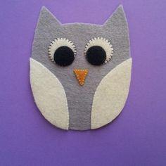 Felt or Appliqu� Owl pattern on Craftsy.com