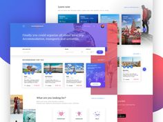 Your travel experience homepage concept
