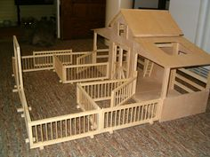 toy horse stables - Google Search   I love horses i have two real mustang horses  And one American quarter horse