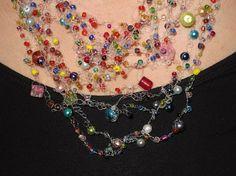 Necklace Crochet  Rocailles  for all Women by StellasJewelryStore