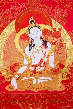 Commission authentic Thangka paintings, Tibetan mandalas, Himalayan masks, Hindu and Buddhist works of art created by the artists of a lovely community in Nepal Tara Goddess, Tibet Art, Vajrayana Buddhism, Buddhist Symbols, Thangka Painting, Buddha Art, Mystique, Tibetan Buddhism, Sacred Art