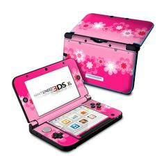 Nintendo 3DS XL Skin - Retro Pink Flowers by DecalGirl Collective | DecalGirl