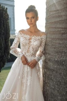 Gabbiano Jozi 2020 Spring Bridal Collection – The FashionBrides Bohemian Wedding Dresses, Tulle Wedding, Wedding Bride, Make Color, Dress For You, Sleeve Styles, Plus Size Outfits, Designer Dresses, Dress Skirt