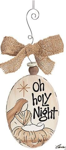 Oh Holy Night Ornament Oh Holy Night Holy Night Hand Painted Ornaments