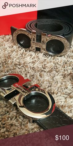 Ferragamo belt Comes with box Will ship same day or next morning Bundle deals accepted Get off if you purchase 2 or more! Mens Fashion Shoes, Men's Fashion, Fashion Trends, Black Gucci Belt, Designer Belts, Men Street, Men Looks, Boruto, Cartier