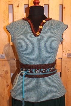 """The bodice worn by the seaman's wife turquoise/brown. Kits for my book FANØSTRIK - Colours of Fanø - You find the knittingpattern in my Knittingbook """"Fanøstrik - Colours of Fanø"""""""