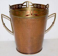 Hammered Copper & Brass Champagne Bucket