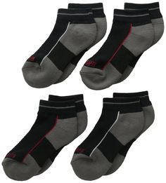 05158ad4852ef Amazon.com: PEDS Little Boys' Endur Quarter Socks Mesh Top and Arch Support  Black Low Cut with Stripe Medium 4 Pairs, Multi, 9/2.5: Clothing