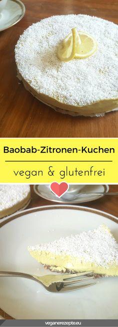 Kennt ihr noch das Buttermilk Eis von Langnese? So ungefähr schmeckt dieser Rohkost Baobap-Zitronen-Kuchen hier. #vegan #rohkost #glutenfrei #baobab