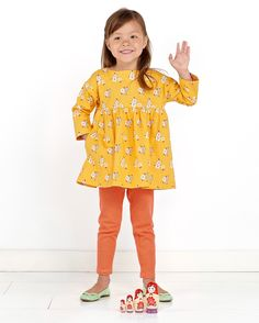 Introducing the Play Time Dress, Tunic, + Leggings, a sewing pattern that will become a wardrobe basic for many of you.
