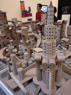 Cardboard City from the movie The Science of Sleep