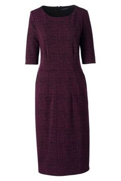 Women's+Elbow+Sleeve+Ponté+Sheath+Dress+from+Lands'+End     I  like the gray one!