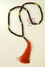 Burnt Orange Tassel Necklace $65.00 Handmade in the USA www.longhornfashions.com