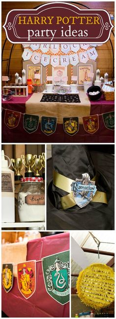 What an awesome Harry Potter birthday party! See more party ideas at CatchMyParty.com!