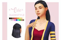 evie hairstyle i made this for one of legacy sims, evie =) basegame ea swatches custom thumbnail hat compatible i had to remove the tied back part of the hair for one of the hat chops because it was too poofy to fit under a hat! Sims Four, Sims 4 Mm Cc, Sims 1, Sims 4 Mods, Ethnic Hairstyles, Pretty Hairstyles, Poofy Hair, Sims 4 Cc Skin, Play Sims