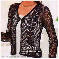 nice Crochet Sweater: Crochet - Crochet Lace Sweater For Ladies Gilet Crochet, Crochet Coat, Crochet Jacket, Crochet Cardigan, Crochet Clothes, Crochet Sweaters, Crochet Saco, Moda Crochet, Crochet Pattern
