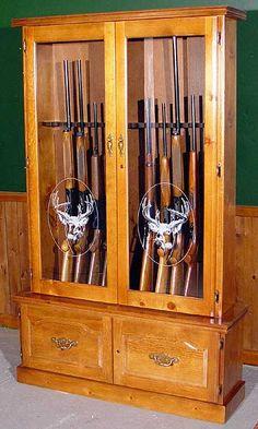 Pine 20 Gun Cabinet
