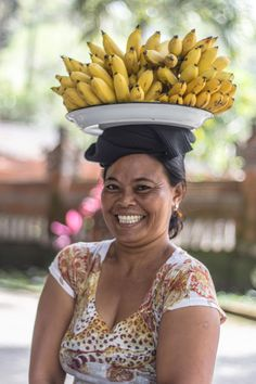 Smile as a cause to make your world a better place! Banana vendor, Bali, Indonesia