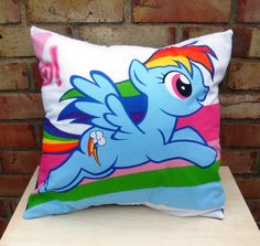 Rainbow Dash Pillow for Micah's bed!