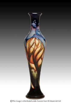 "Moorcroft Pottery, ""Jacaranda"" designed by Emma Bossons, FRSA"