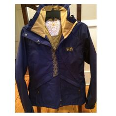 Helly Hanson Ski Jacket Waterproof, breathable ski jacket. Has hood, zippers on the sides for venting, zipper pockets on front, extra pocket inside and snow skirt. It is a purple-ish blue color. Only used on two ski trips. Excellent condition. Helly Hanson Jackets & Coats