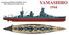 IJN Battleship Yamashiro, 1944