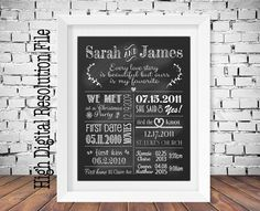 Chalkboard Love Story, Our Favourite Love Story, Our Love Story, Love Story Timeline, Engagement/Wedding Poster, Personalized, Digital File by JJsDesignz on Etsy https://www.etsy.com/listing/246910281/chalkboard-love-story-our-favourite-love