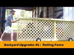 Rolling Fence Gate DIY - Backyard Upgrades #6 - YouTube