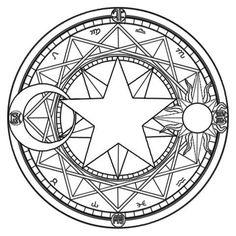 Magic Circles A magic circle (魔法陣 Mahoujin) is a figure composed by a great number of symbols related to the. Magic Circles A magic circle (魔法陣 Mahoujin) is a figure composed by a great number of symbols related to the. Colouring Pages, Coloring Books, Magic Circle Crochet, Sakura Card Captors, Summoning Circle, Magic Symbols, Norse Symbols, Egyptian Symbols, Ancient Symbols