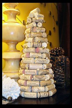 Holiday Everyday Wine Cork Tree Decoration by Cyberpunkjunk fro Amanda Boccolini