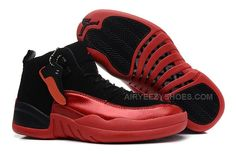 a278e1dd0d9e6c Girls Air Jordan 12 GS Black Red For Womens Cheap For Sale