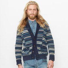 Striped Shawl-Collar Cardigan - Denim & Supply  Sale - RalphLauren.com