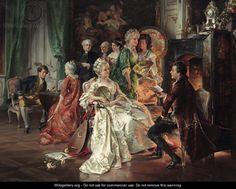 An Evening's Entertainment, Carl Herpfer (1836- 1897)