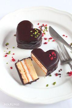 ハートのチョコレートケーキ ★バレンタインお菓子レシピ★ : marimo cafe