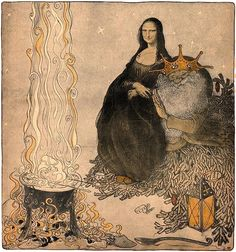 Mona Lisa & Santa, by John Bauer. Christmas 1911 More