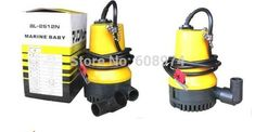 Submersible pump marinepet with DC 12V 50W for boat water supply & drainage, vegetables irrigation