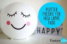 Plotterliebe am Freitag - Ikea Lampe Fado bekleben plus Freebie - Tintenelfe Blog