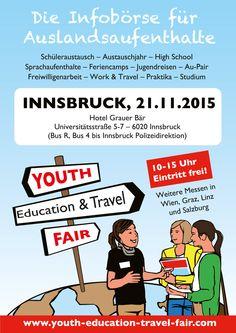 Youth Education & Travel Fair in #Innsbruck: 21. November 2015, Hotel Grauer Bär
