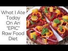 What I Ate Today On An *EPIC* Raw Food Diet - YouTube