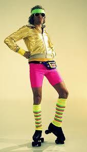 80's Men's Roller Skater Fashion