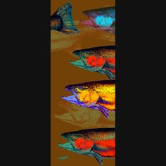 TROUT and SALMON Fish Art Print